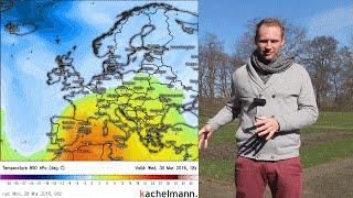 Deutschland-wetter: wochenwetter letzte märzwoche 2016