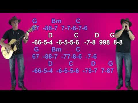 Nº 232 Kingston Town ( UB40 ) Tablatura Armonica ( G ) Diat.+chords Guitar-mundharmonica
