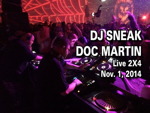 DJ Sneak and Doc Martin Live on 11-1-2014 Sublevel Mass-A-Cure Halloween
