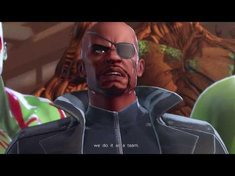 Marvel Ultimate Alliance 3 - Chapter 2: Nick Fury, Avengers, X-Men and Inhimans Join Cutscene (2019)