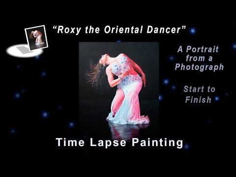 Roxy Oriental Dancer - Start to Finish - Time Lapse