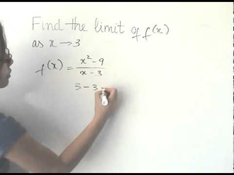 Limit Of F X 2 9 3