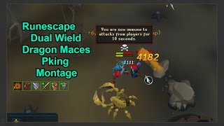 Runescape EoC Dual Wield Dragon Maces PKing Montage #13