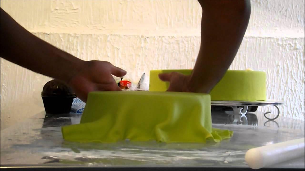Well-known Cobrindo bolo cenográfico com Pasta Americana - YouTube QV84