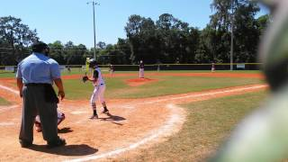 Jorge romero baseball 10u first homerun de jorge in the mother day 05/08/2016