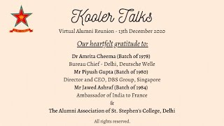 Kooler Talks - Virtual Alumni Reunion (13.12.2020)