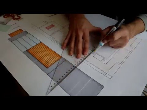 How to draw architectural plans with markers