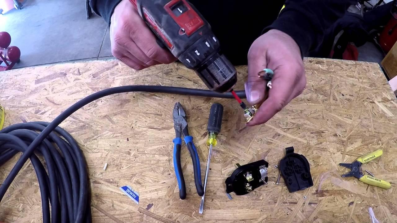 Wiring a NEMA 650P Plug for an Everlast Welder  YouTube