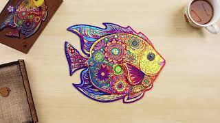 Unidragon Деревянный пазл - Сияющая Рыбка
