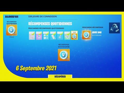 BOUTIQUE FORTNITE du 6 Septembre 2021 ! ITEM SHOP September 6 2021 !