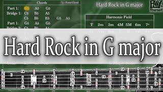 Backing Track - Hard Rock in G major