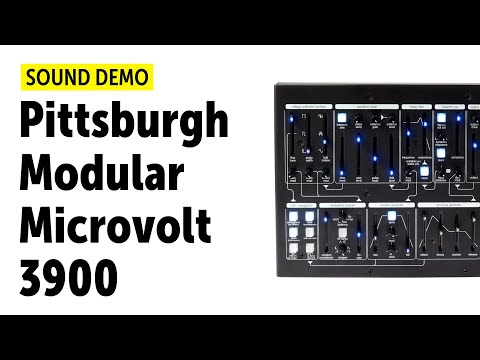 Pittsburgh Modular Microvolt 3900 Sound Demo (no talking)