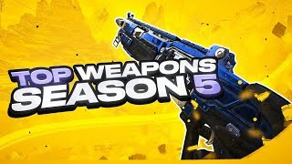 Top 10 Best Weapons Season 5 - Apex Legends