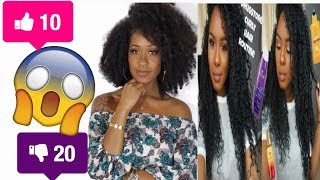 I TRIED FOLLOWING A GLAMTWINZ334 CURLY HAIR ROUTINE   MICHELLE JONES