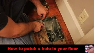 How to patch a hole in your floor