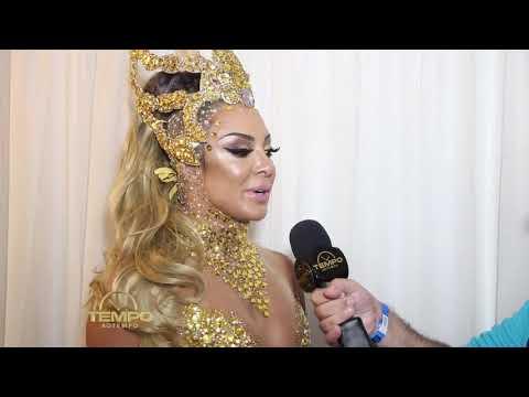 Priscila santana vestindo atelier P Guedes    Bastidores  Carnaval