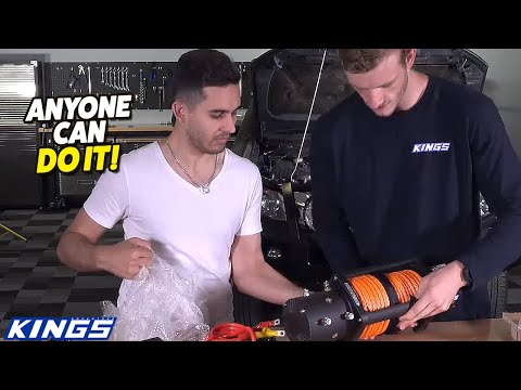 Watch How Easy It Is To Install And Adventure Kings Domin8r X Winch Youtube