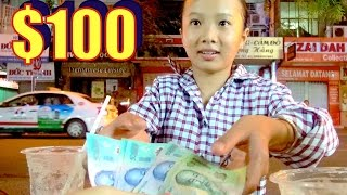 Giving $1000 USD to a girl who just lost her leg. Saigon 2016