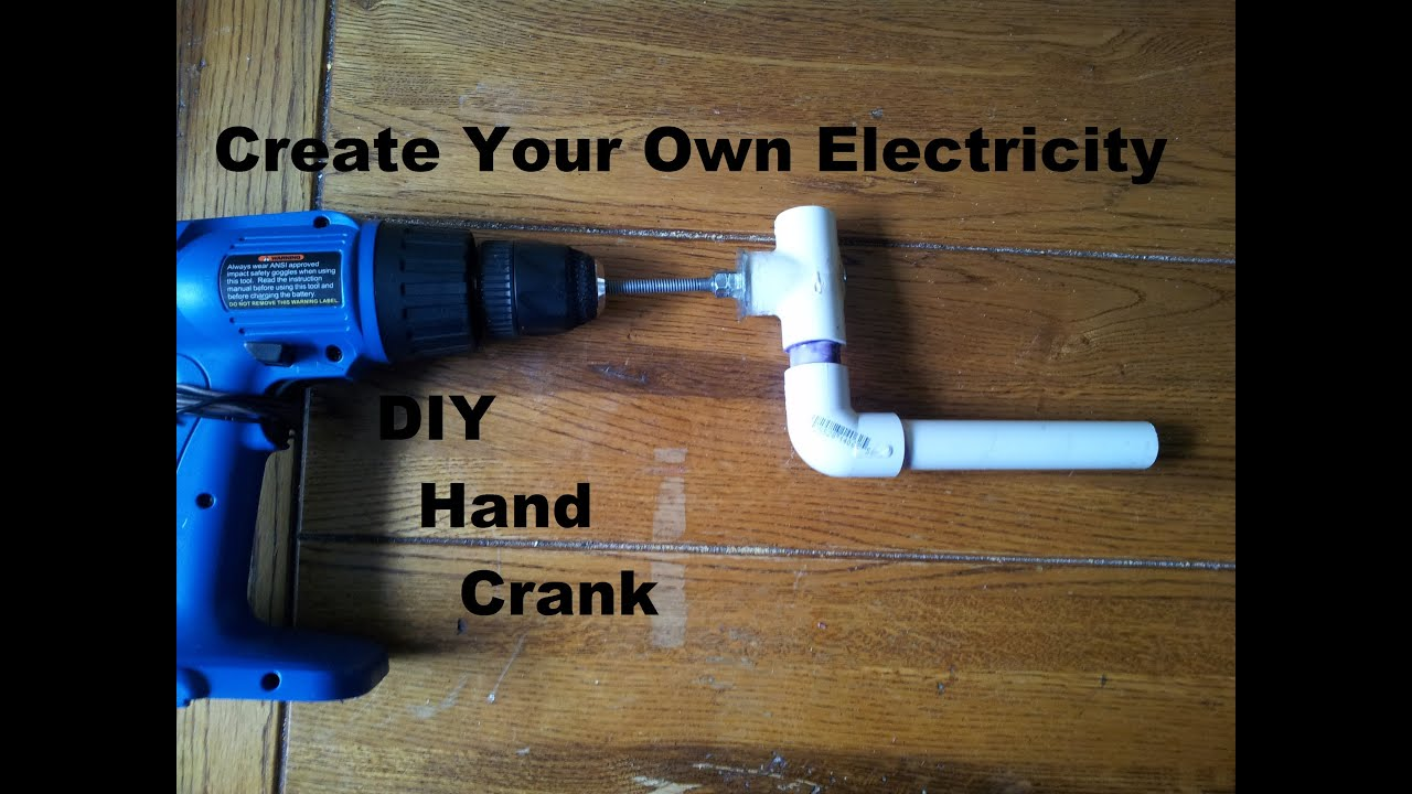 Drill used as Generator DIY Hand Crank Step by Step build