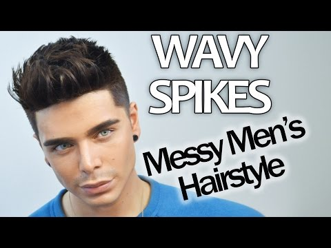 WAVY SPIKES   Messy Men's Hairstyle Tutorial   FT. MISTER POMPADOUR