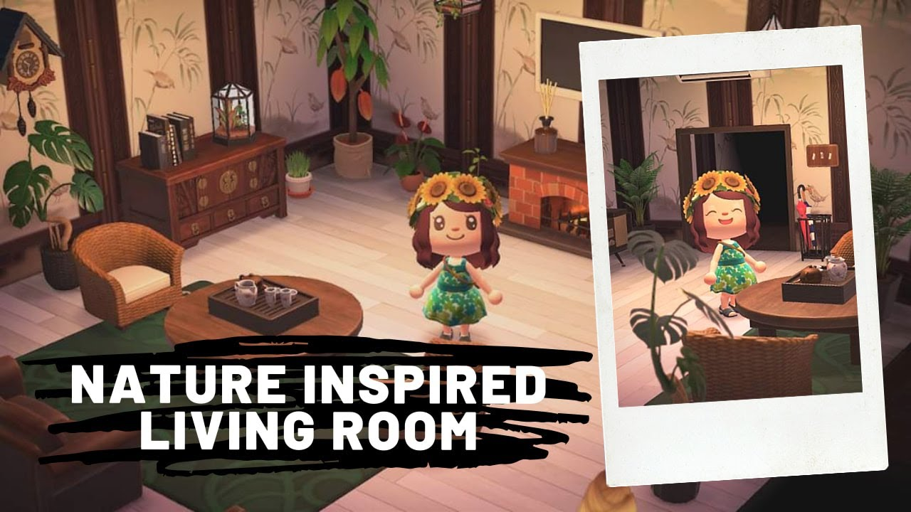 NATURE THEMED LIVING ROOM Design (Decorate with Me ... on Animal Crossing New Horizon Living Room Ideas  id=91994