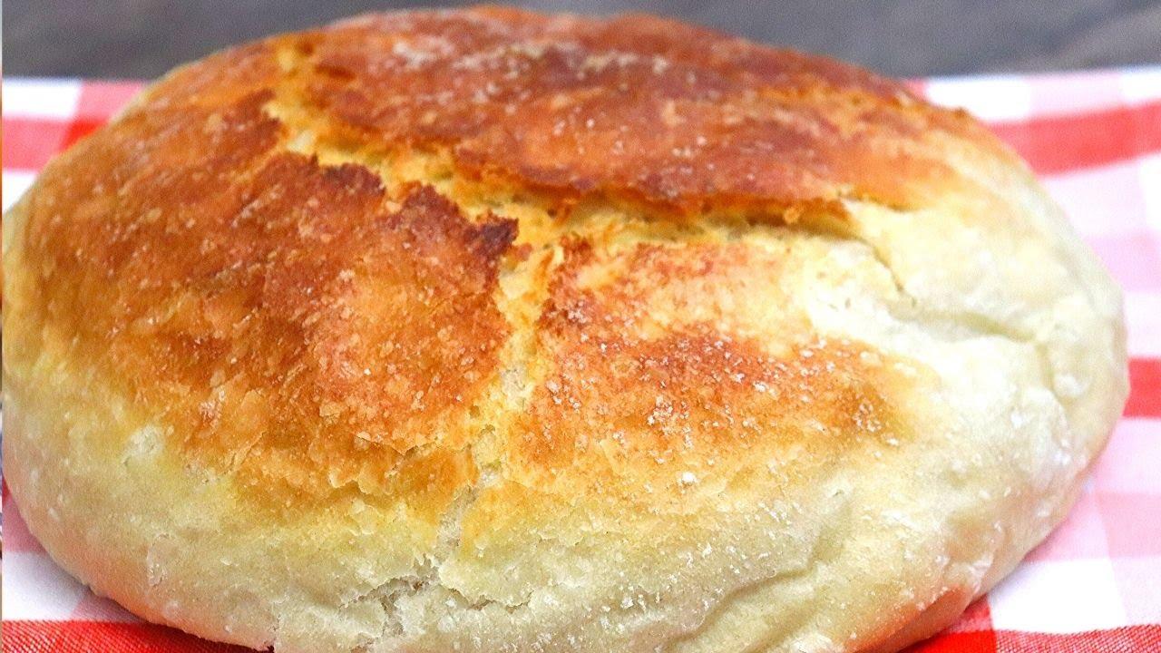 (ВИДЕО) - Домашен селски хляб без месене . Опечен под капак.???
