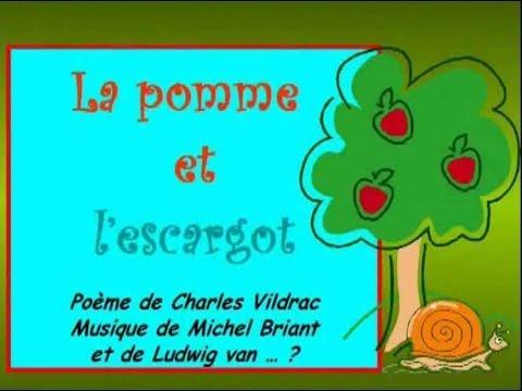 Phulangsa Cours De Français Poème La Pomme Et Lescargot