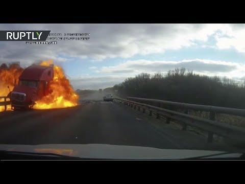 Опубликовано видео с места массовой аварии в Воронежской области