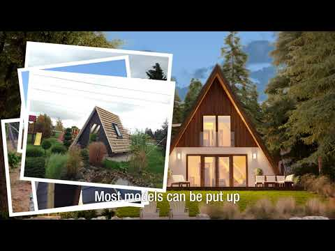 A-frame kit homes from AVRAME