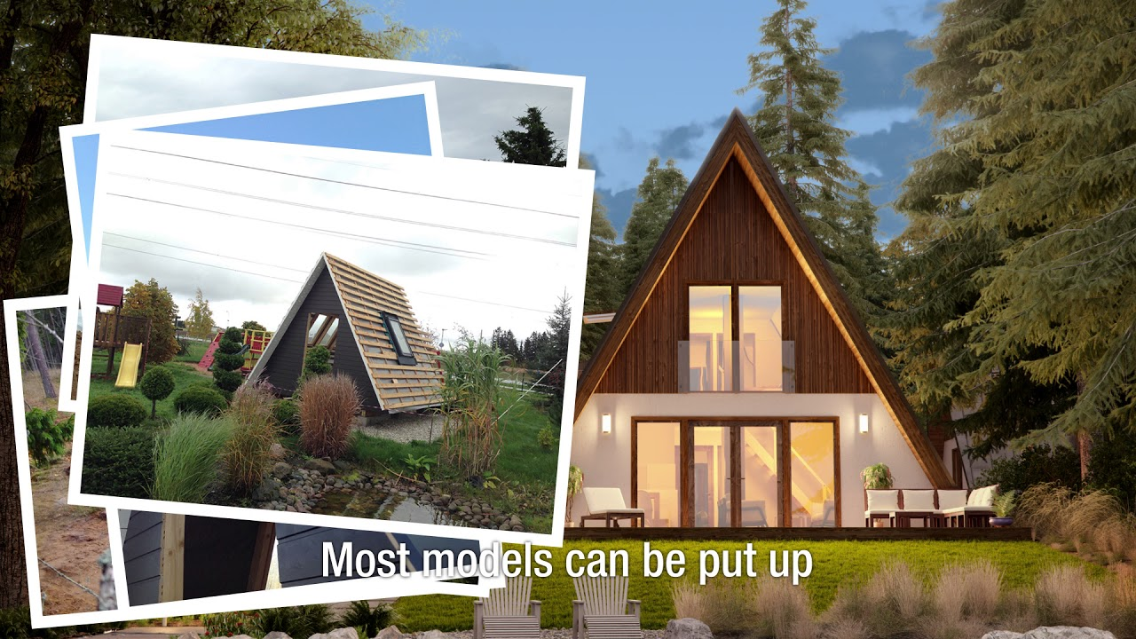 A frame kit homes from avrame youtube for A frame house kits cost