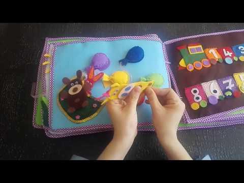 Keçeden aktivite kitabı Eğitici Aktivite Kitabı - activity book - quiet book Eğitim Beceri Kitabı