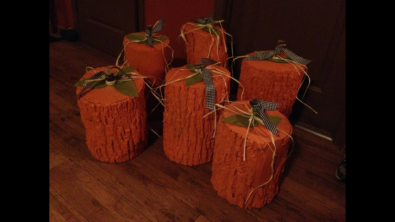 How To Make A Wooden Pumpkin Youtube