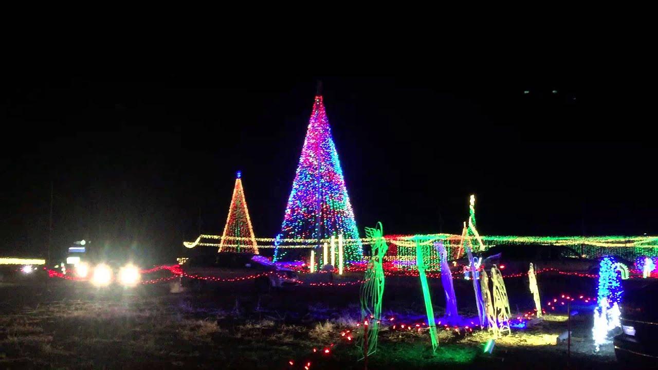 Christmas in Color Christmas Light Display Tunnel - YouTube