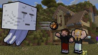 GHASTY CHCĄ ZNISZCZYĆ NASZ DOM! - Minecraft EWO