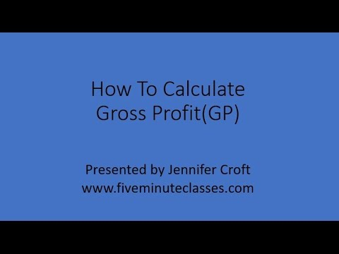 How To Calculate Gross Profit (GP)