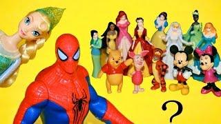 30 Disney Characters Elsa  Mickey Mouse Cinderella Ariel Winnie the Pooh, Nemo, Incredibles