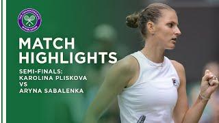 Karolina Pliskova vs Aryna Sabalenka | Semi-Final Highlights