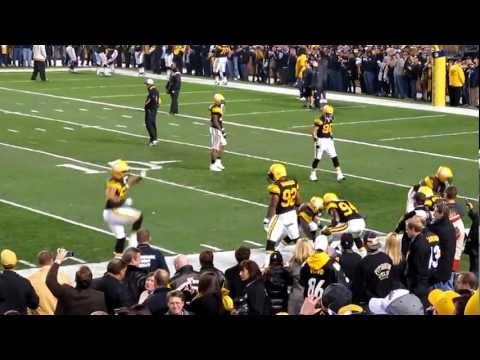 James Harrison Steelers Ravens pregame warmup