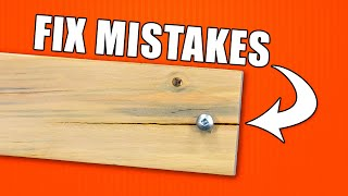 How to Fix Woodworking Mistakes - Episode 1