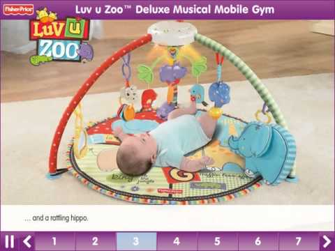 Luv U Zoo™ Deluxe Musical Mobile Gym