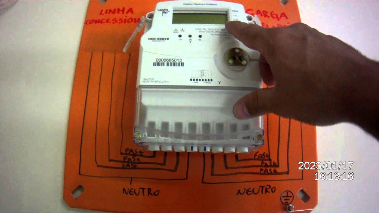 2bc8411f8d7 Medidor de energia trifásico - YouTube