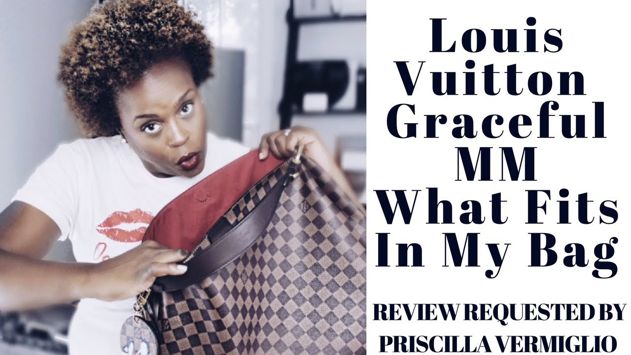 louis vuitton graceful mm what fits in my bag drelux tv youtube