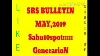 SRS BULLETIN MAY 2019
