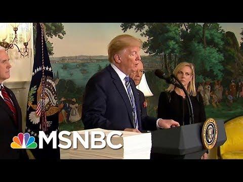President Donald Trump Signs $1.3 Trillion Spending Bill After Veto Threat   MSNBC