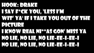 2 Chainz FT. Drake-No Lie (Lyrics Video)