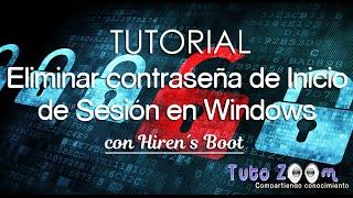 Tutorial Eliminar Contraseña de Cuenta en Windows (Hiren´s BootCD v.10)