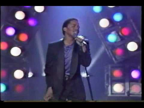 "Marlon Jackson performing ""Baby Tonight"" in 1987"