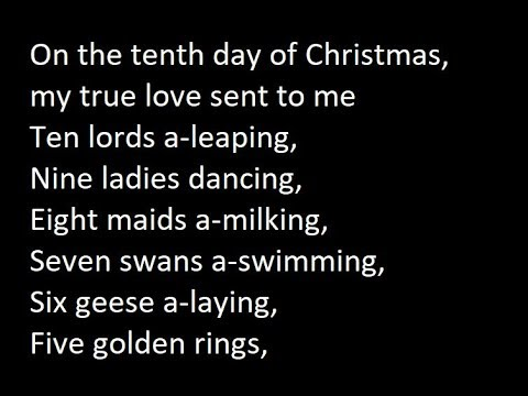 Ray Conniff  12 Days Of Christmas Lyrics