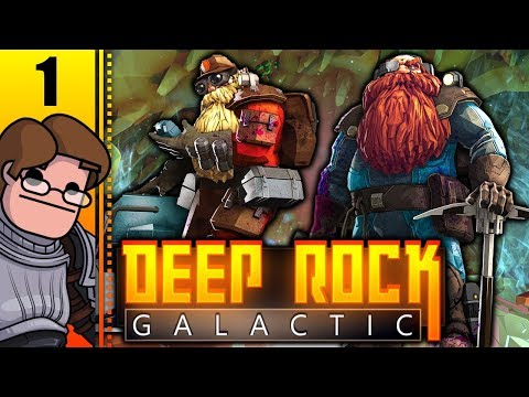 Let's Play Deep Rock Galactic Co-op Part 1 - The Episode Where We Suck