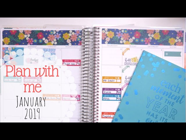 PLAN & BUDGET WITH ME! || January 2019 || Erin Condren Deluxe Monthly Planner
